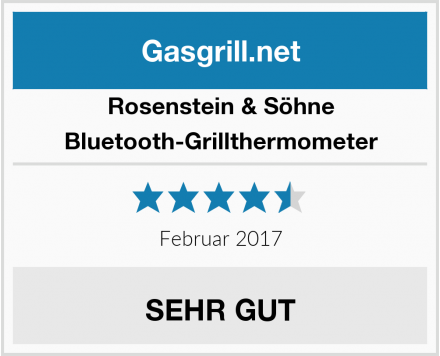 Rosenstein & Söhne Bluetooth-Grillthermometer Test