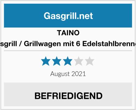 TAINO Gasgrill / Grillwagen mit 6 Edelstahlbrennern Test