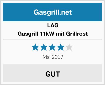 LAG Gasgrill 11kW mit Grillrost Test