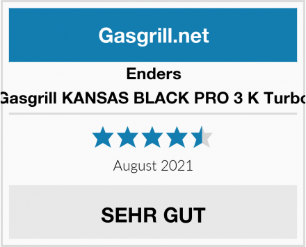 Enders Gasgrill KANSAS BLACK PRO 3 K Turbo Test