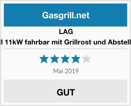 LAG Gasgrill 11kW fahrbar mit Grillrost und Abstellplatten Test