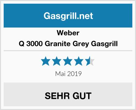 Weber Q 3000 Granite Grey Gasgrill Test