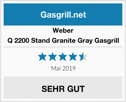 Weber Q 2200 Stand Granite Gray Gasgrill Test