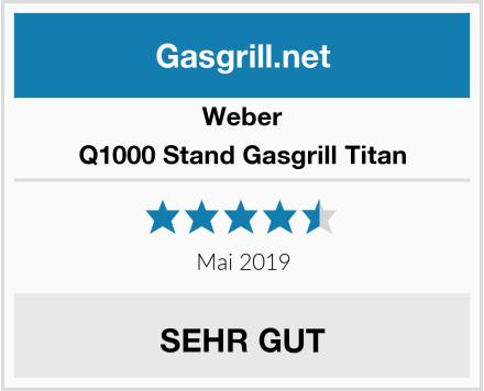 Weber Q1000 Stand Gasgrill Titan Test
