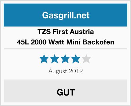 TZS First Austria 45L 2000 Watt Mini Backofen Test