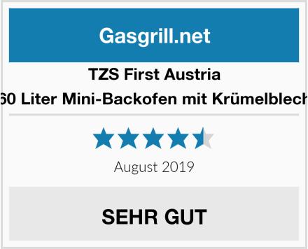 TZS First Austria 60 Liter Mini-Backofen mit Krümelblech Test