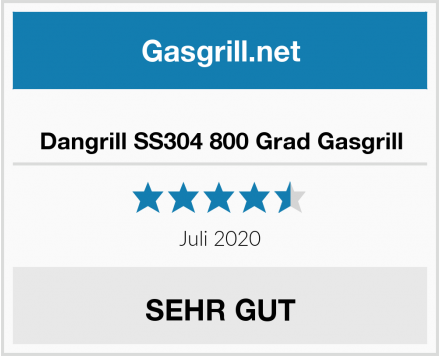 Dangrill SS304 800 Grad Gasgrill Test