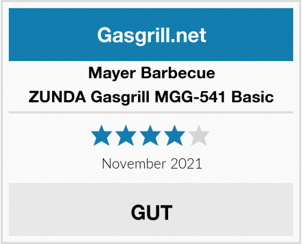Mayer Barbecue ZUNDA Gasgrill MGG-541 Basic Test