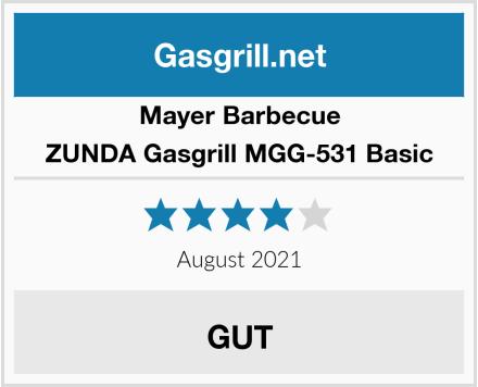 Mayer Barbecue ZUNDA Gasgrill MGG-531 Basic Test