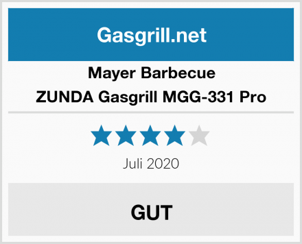 Mayer Barbecue ZUNDA Gasgrill MGG-331 Pro Test