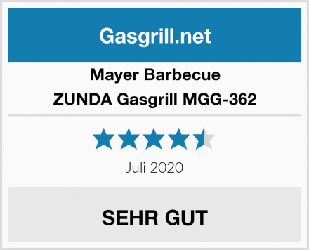 Mayer Barbecue ZUNDA Gasgrill MGG-362 Test