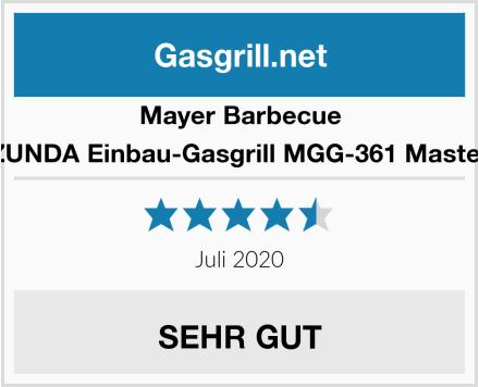Mayer Barbecue ZUNDA Einbau-Gasgrill MGG-361 Master Test