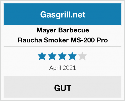 Mayer Barbecue Raucha Smoker MS-200 Pro Test