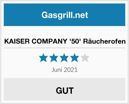 KAISER COMPANY '50' Räucherofen Test