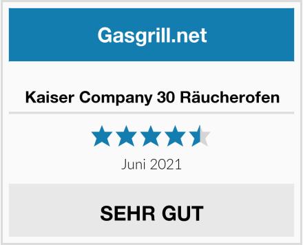 Kaiser Company 30 Räucherofen Test