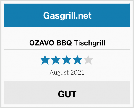OZAVO BBQ Tischgrill Test
