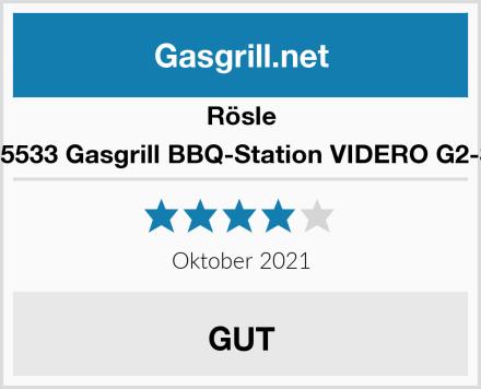 Rösle 25533 Gasgrill BBQ-Station VIDERO G2-S Test