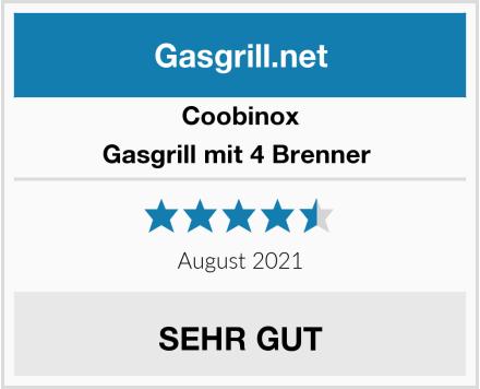 Coobinox Gasgrill mit 4 Brenner  Test
