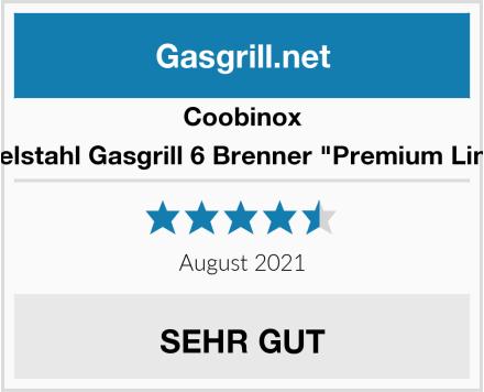 Coobinox Edelstahl Gasgrill 6 Brenner
